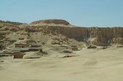DESERT SAND MOUNTAINS LUXOR EGYPT Stock Photo