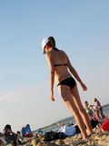 sandy na plaży fotografia stock