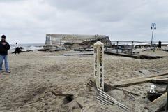 Sandy Ocean Ave Belmar Stock Photo