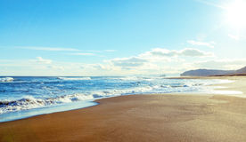 Sandy ocean coast Royalty Free Stock Photography