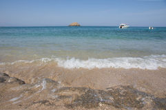 Sandy ocean coast Royalty Free Stock Images
