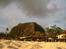 Sandy paradise. The stunning beach of Le Morne, Mauritius Stock Images