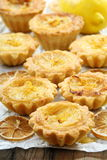 Sandy pastry with lemon filling. Royalty Free Stock Photography