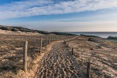 Sandy path on the Cayola bay. Sandy path on the sea side of Cayola bay Les Sables d`Olonne, France Stock Photography