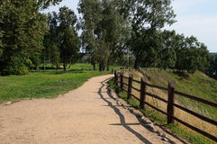 Sandy path in the park royalty free stock photography