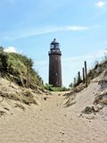 Sandy path to the light-house Royalty Free Stock Image
