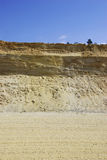 Sandy pit. An sandy pit in Germany Royalty Free Stock Images