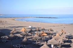 Sandy Playa de las Cuevitas in Playa de las Americas in the south of Tenerife Stock Photography