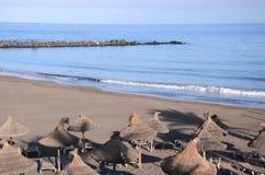 Sandy Playa de las Cuevitas in Playa de las Americas in the south of Tenerife Stock Photo