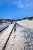 Sandy railroad tracks Stock Photo