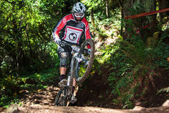 Sandy Ridge Enduro Mountain Bike Race Royalty-vrije Stock Foto