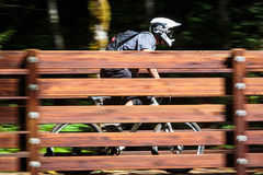 Sandy Ridge Enduro Mountain Bike Race Arkivbild
