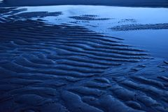 Sandy Ripples Stock Afbeeldingen