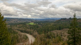 Sandy River Basin Landscape Time Lapse in Oregon