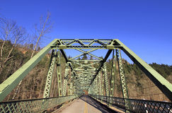 Sandy River Bridge at Columbia Gorge. Scenic Highway stock photo