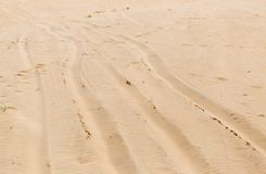 The sandy road as background. Photo of abstract textures Stock Photo
