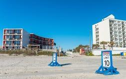 Sandy Road of Daytona Beach on a sunny day, Florida Royalty Free Stock Photography