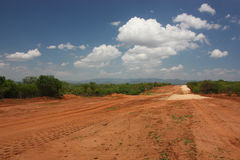 Sandy road. In Ethiopian Omo Valley Stock Photo