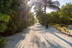 Sandy road in Kuredu Royalty Free Stock Photography