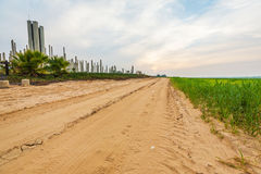 Sandy road in a rural Royalty Free Stock Images