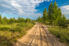 Sandy road Stock Images