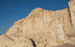 Sandy rock in the desert. In Egypt Royalty Free Stock Image