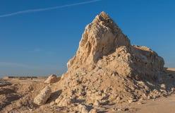 Sandy rock in the desert. In Egypt Stock Photos