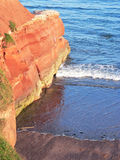 Sandy rocks at Jurassic Coast, South England Royalty Free Stock Image