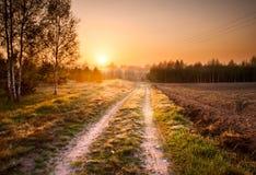 Sandy rural road in landscape Stock Image