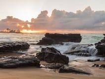 Sandy's Sunrise 6. Sunrise over the ocean at Sandy Beach in Oahu, Hawaii Royalty Free Stock Image