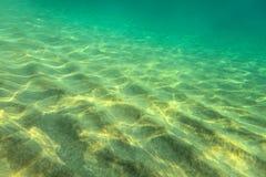 Sandy sea bottom, small sand dunes stock photos