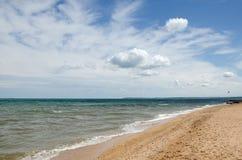 Sandy sea coast Stock Photography
