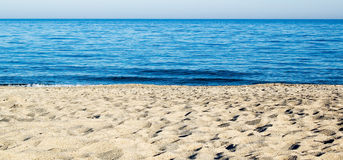 A sandy shore Royalty Free Stock Images