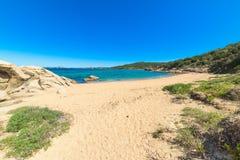 Sandy shore in Cala dei Ginepri Royalty Free Stock Image
