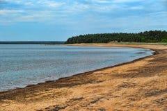 Sandy shore of the Gulf Stock Photos