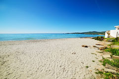 Sandy shore in Le Bombarde Stock Photography