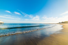 Sandy shore in Malibu. California Stock Images