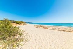Sandy shore in Piscina Rei Stock Image