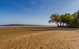 Sandy shore of Rozmberk pond-Trebon,Czech Republic Royalty Free Stock Image