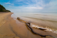 Sandy shoreline landscape Royalty Free Stock Photo