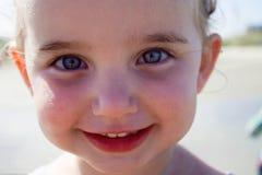Sandy Smiles Royaltyfria Bilder