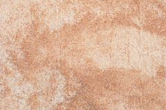 Sandy soil texture. Background for surface stock photo