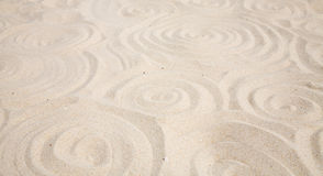 Sandy spirals background Stock Photography