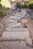 Sandy Steps Red Rocks Pathway royaltyfri fotografi