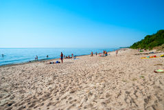 Sandy-Strand in Klaipeda, Litauen Stockbild