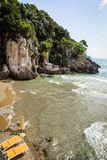 Sandy-Strand in Lazio, Italien Lizenzfreie Stockfotos