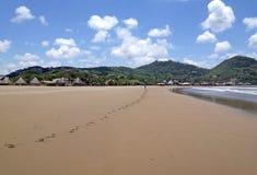 Sandy-Strand in San Juan del Sur Stockfoto