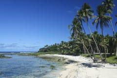 Sandy-Strand siargao Insel Philippinen lizenzfreies stockfoto