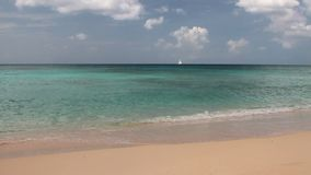 Sandy-Strand und Meer Brandons, Bridgetown, Barbados stock video