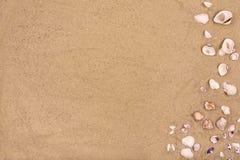 Sandy-Strandhintergrund, Kopienraum, Sommer Stockbild